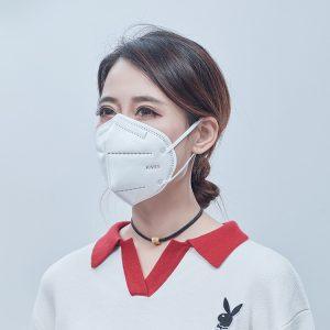máscara cirúrgica resistente a gotículas descartáveis do respirador n95