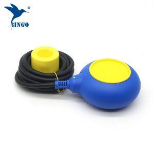 Regulador de nível tipo MAC 3 em interruptor de bóia de cabo amarelo e azul