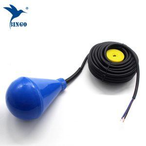 Interruptor de flutuador de nível de tanque de água em forma subuliforme com cabo de PVC