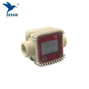 qualidade superior 10-120L / min digitais de combustível de água medidor de fluxo de turbina eletrônica